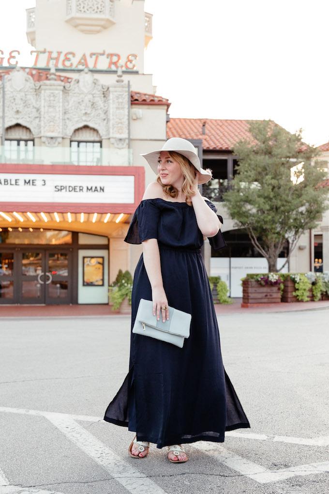 Ann Taylor Off the Shoulder Maxi Dress