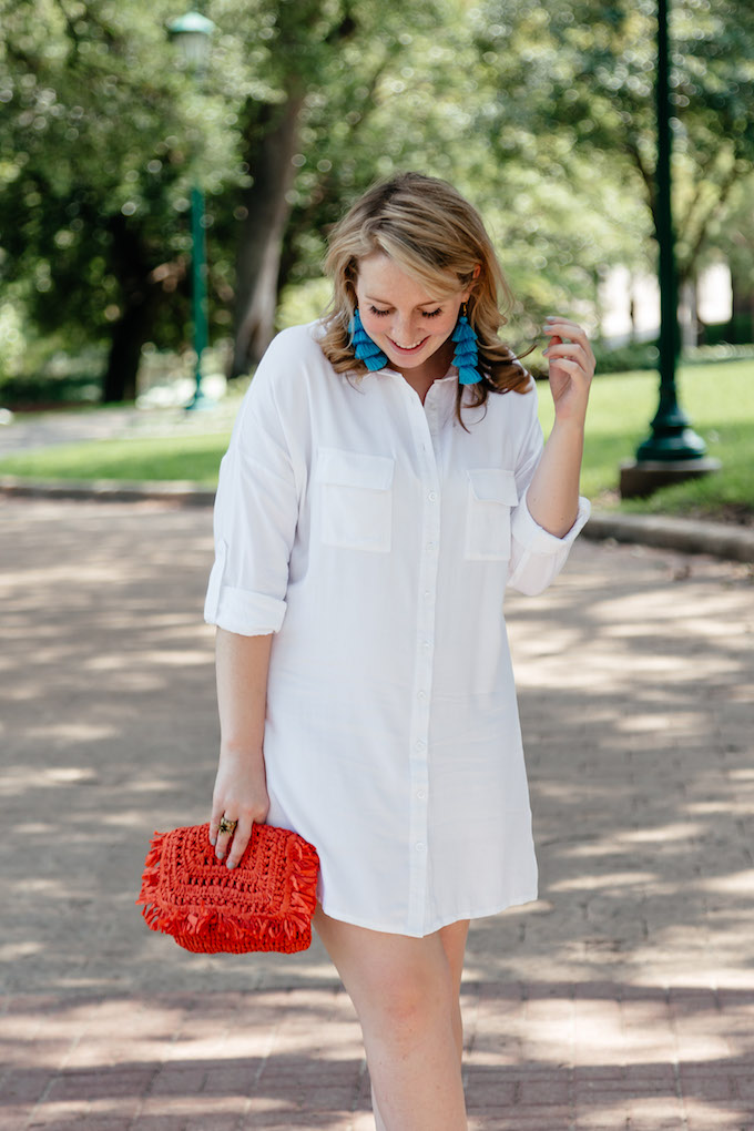 How to style a bright clutch