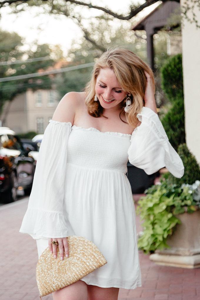 Tobi Becca Off the Shoulder Day Dress