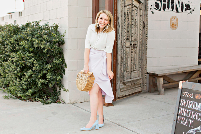 Ann Taylor White Short Sleeved Blouse