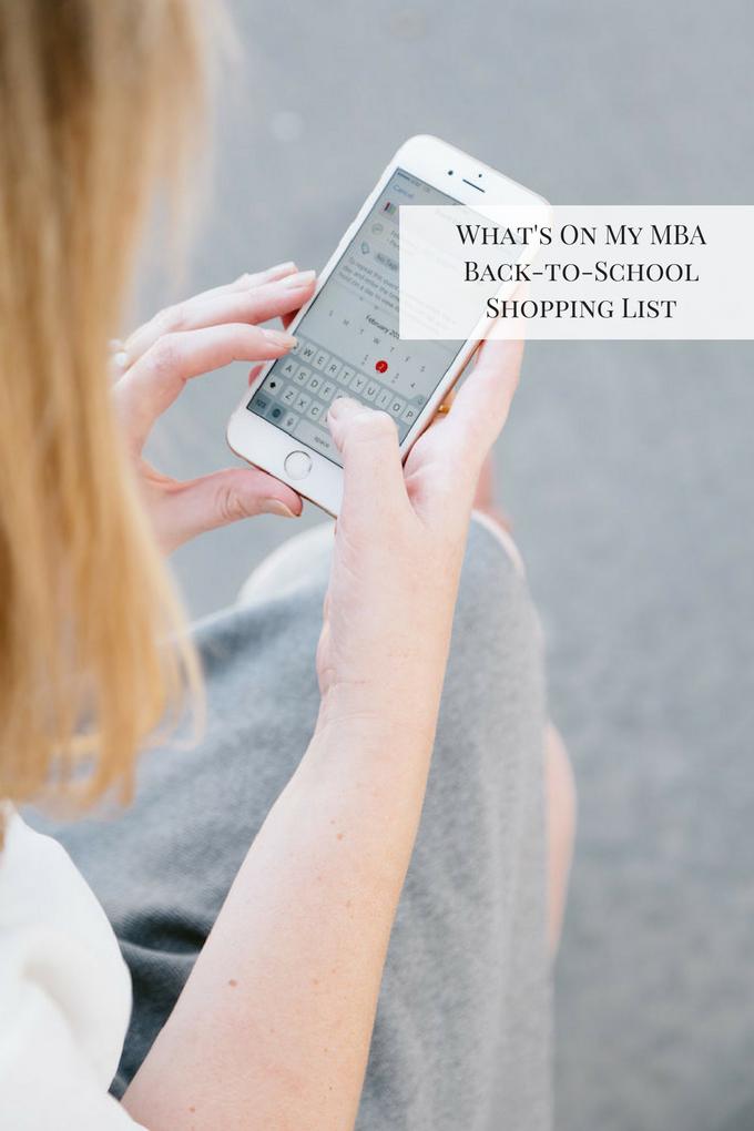 MBA School Supply List