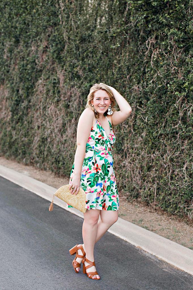 Mango Tropical Wrap Dress