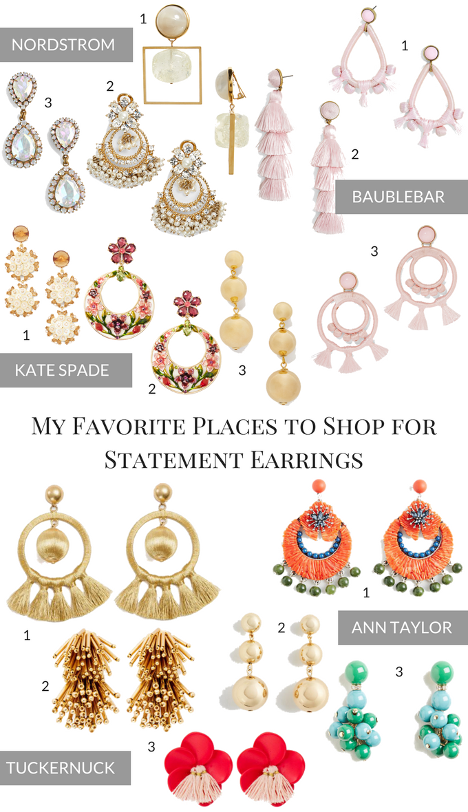 My Favorite Places to Shop for Statement Earrings