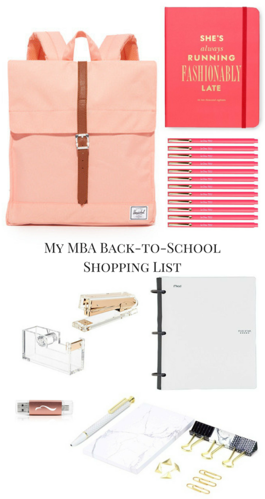 My MBA Back-to-School Shopping List