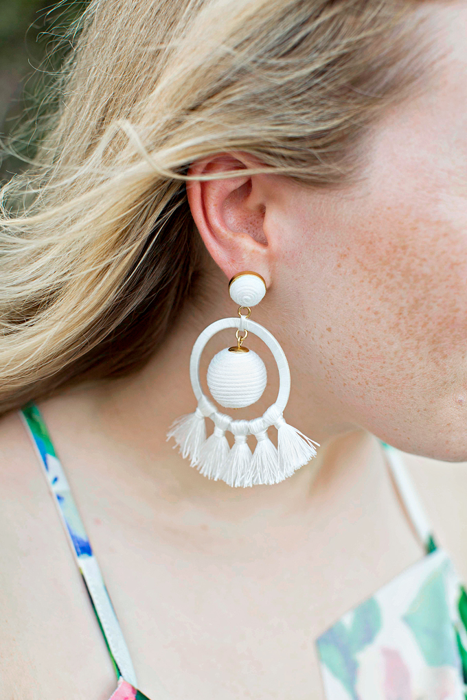 Orchid White Dreamcatcher Earrings