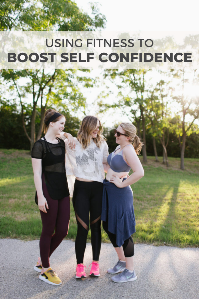 Using Fitness to Boost Self Confidence Pinterest graphic