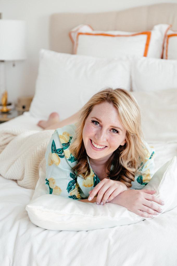 My Bedtime Routine to Guarantee a Good Night's Sleep, ASOS lemon print pajamas