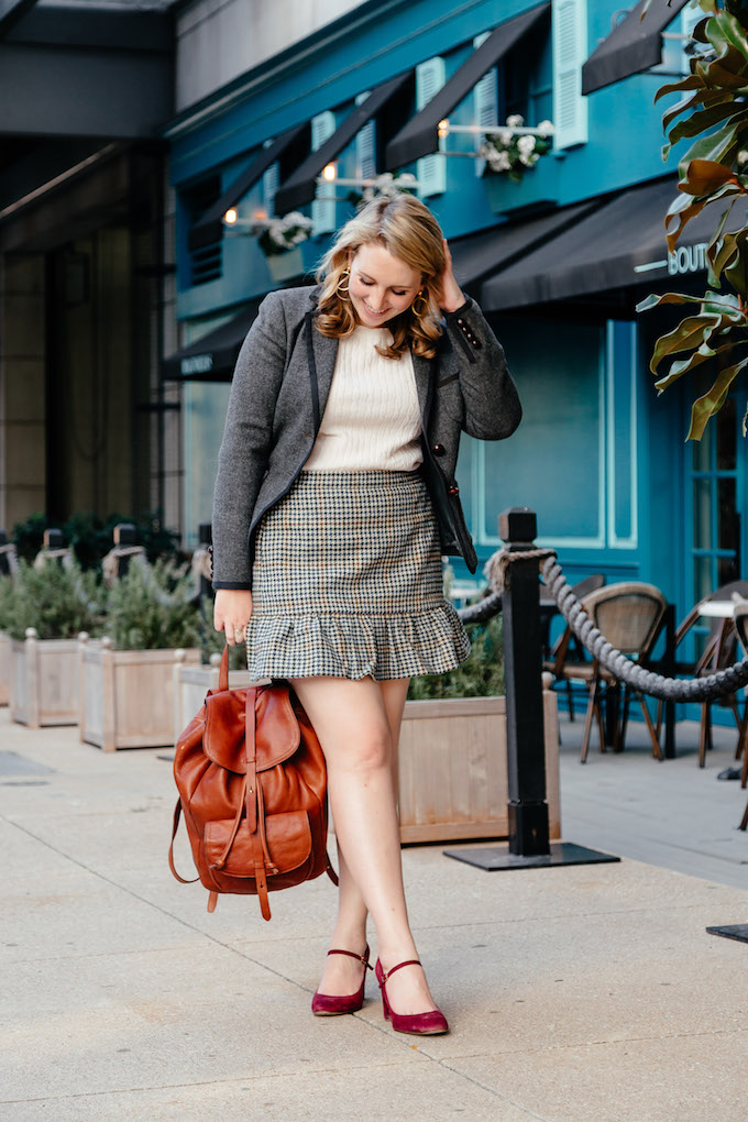 Brooks Brothers sweater, 30 before 30 inspiration