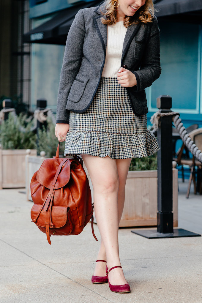 Brown leather backpack, 30 before 30 list ideas