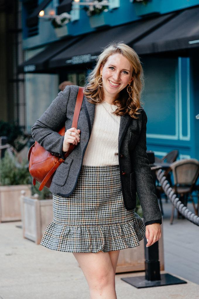 J.Crew ruffle mini skirt in houndstooth, Thirty before thirty ideas