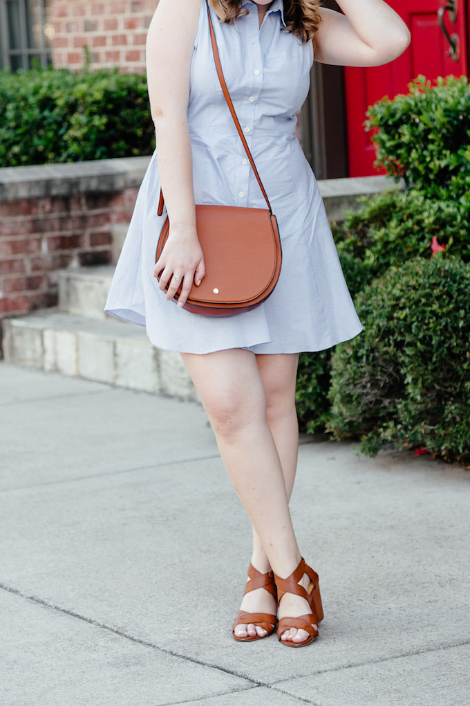 Jules Two-Tone Faux Leather Saddlebag, Warm Weather Fall Outfits