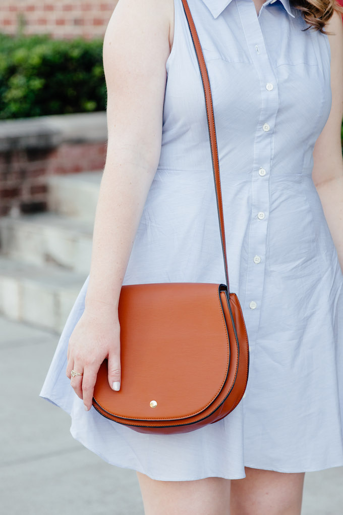 Sole Society brown leather shoulder bag