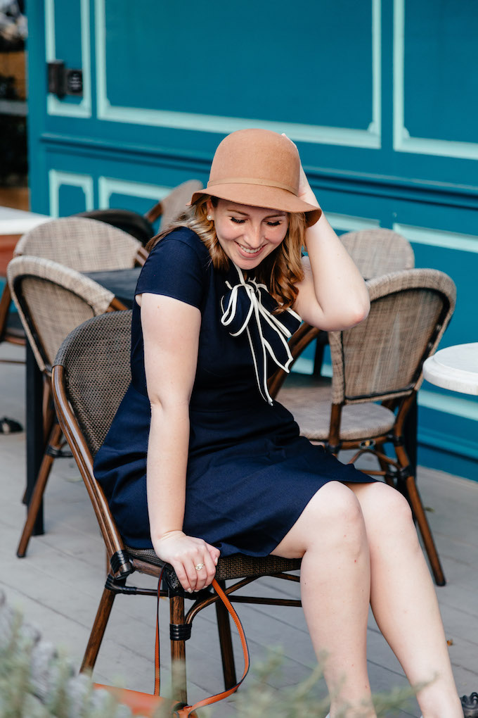 Tie-neck dress in Italian wool crepe, How to Make a Media Kit for Your Blog