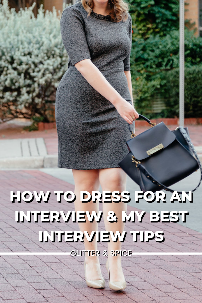How to dress for an interview and best interview tips from an mba graphic for Pinterest