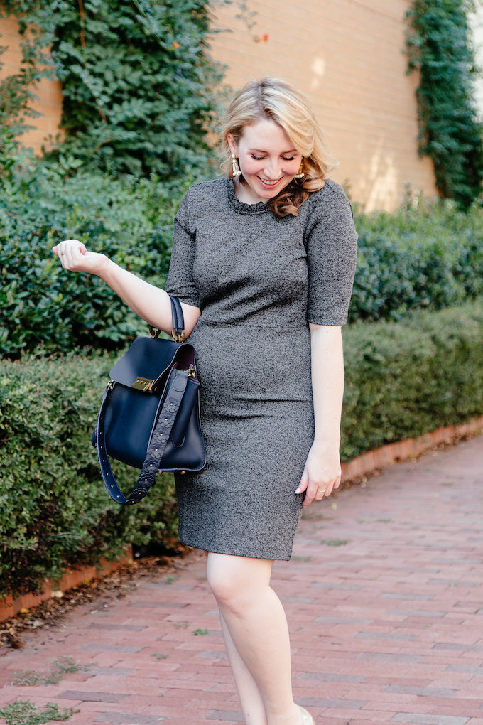 Gray Ann Taylor suiting // Outfit to wear to work