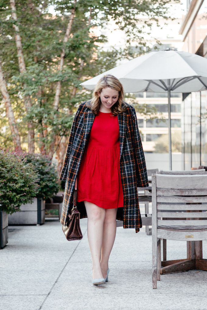 Little red dress under $50, How to Balance Blogging with a Full-Time Job