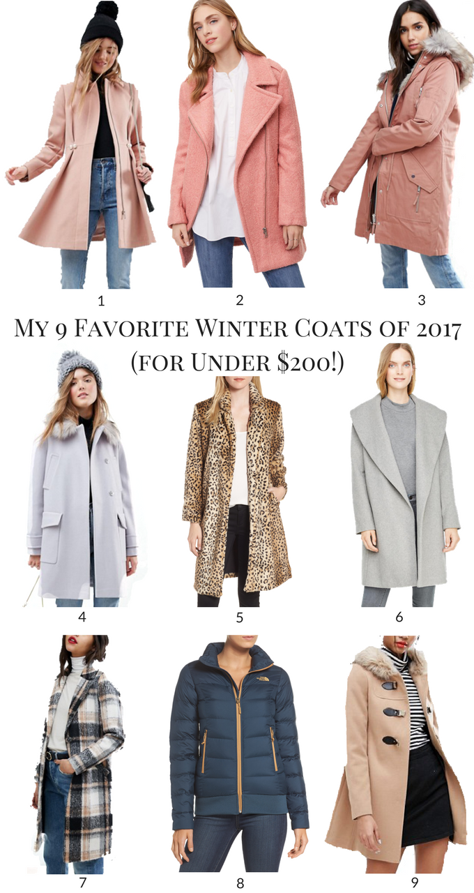 My 9 Favorite Winter Coats of 2017 (for Under $200!)
