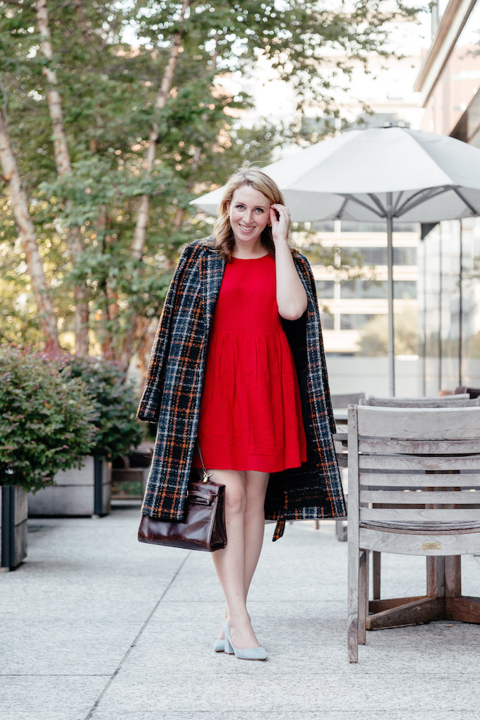 Plaid coat under $150