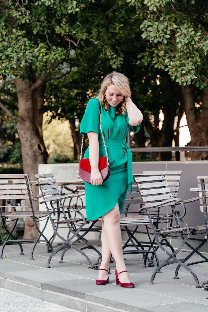 Green Kimono Style Dress
