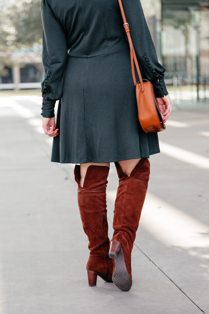 Over the Knee Aerosoles Heeled Suede Boots