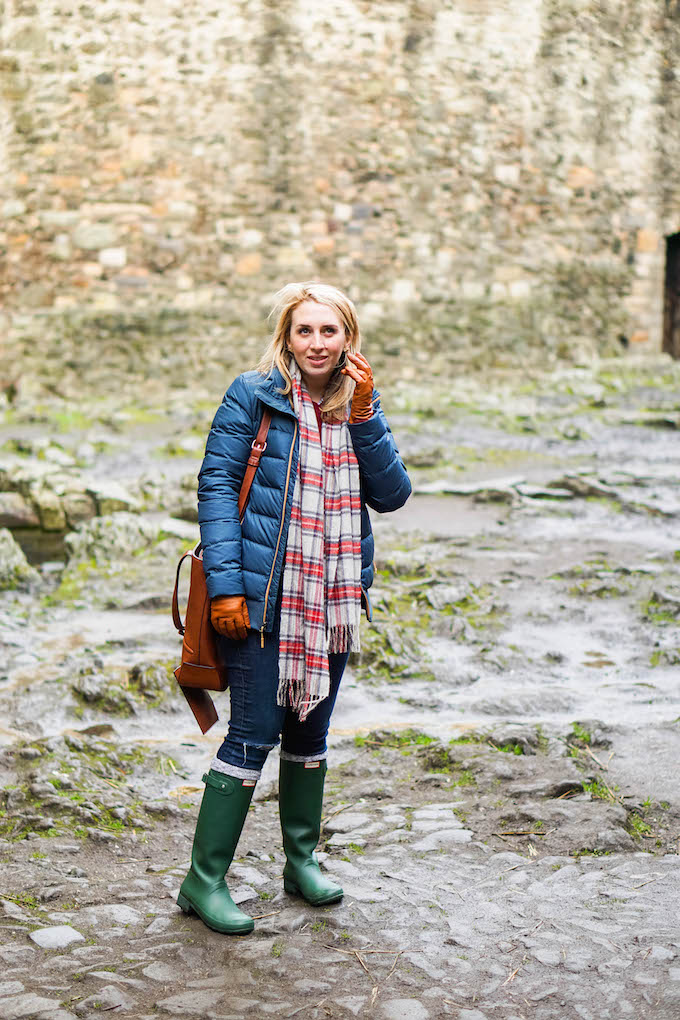How to Wear a Plaid Scarf