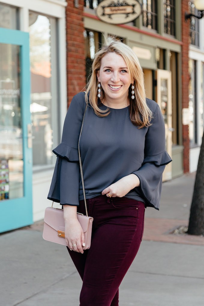 How to Make an Outfit Collage for Pinterest, how to wear a grey blouse to work