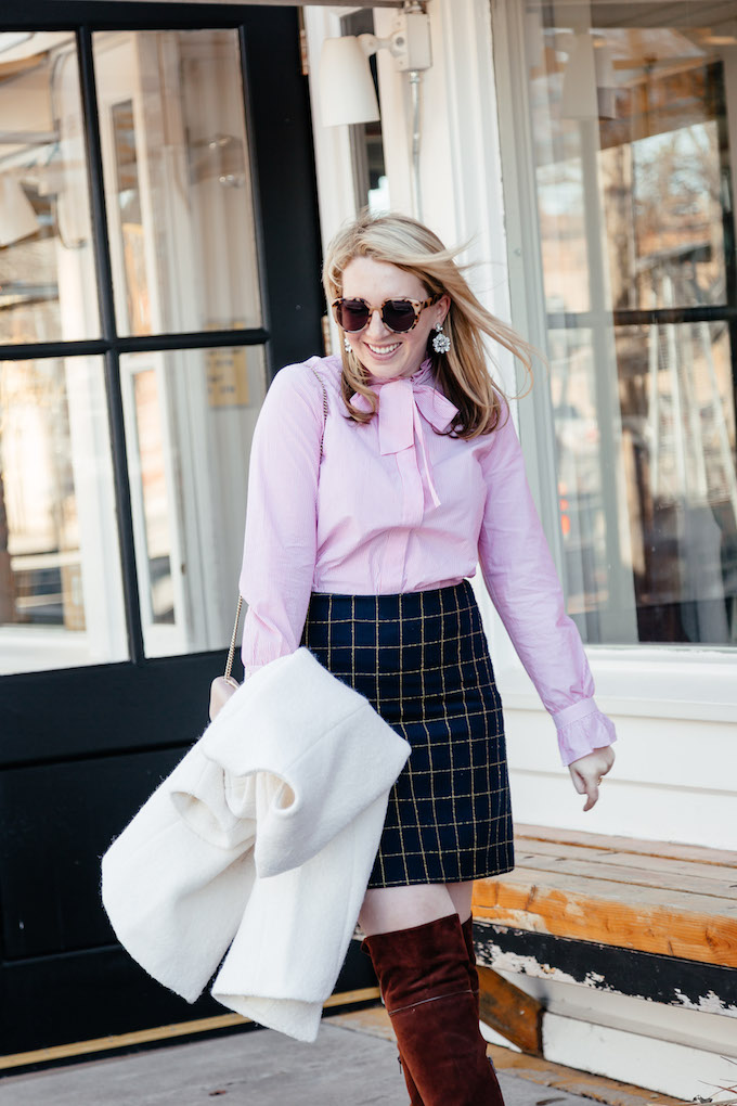 How to wear a miniskirt to work, casual office attire
