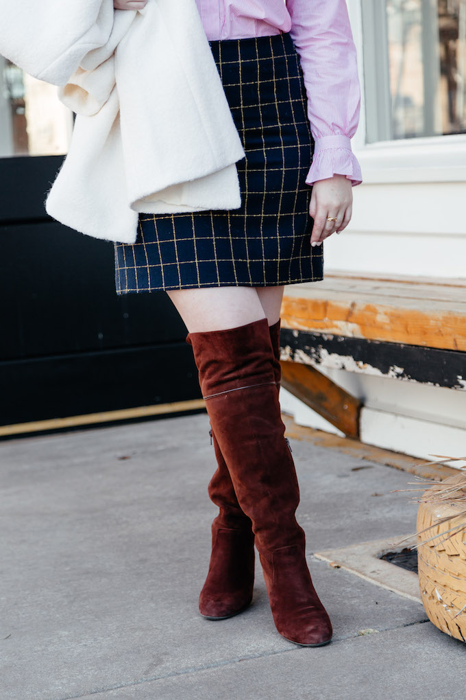 How to wear over the knee boots for spring