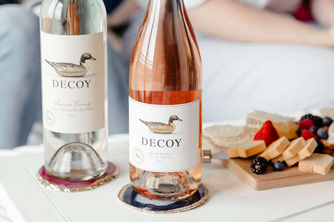 Decoy Sauvignon Blanc, Decoy Rosé, Wine with duck on label, best wines from Sonoma County California