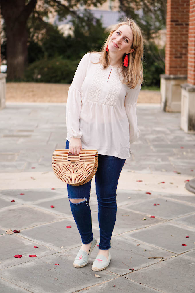 White lace tunic blouse