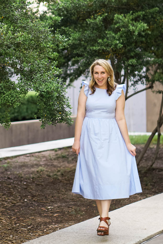 28 Things You Didn't Know About Me + a 30 Before 30 Update, blue midi dress under $150