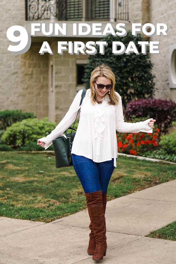9 Fun Ideas for a First Date Pinterest graphic