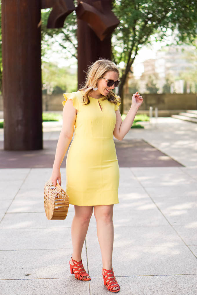 Cult Gaia Ark Bag, How to Wear a Bamboo Clutch // How to find a photographer for your fashion blog DFW
