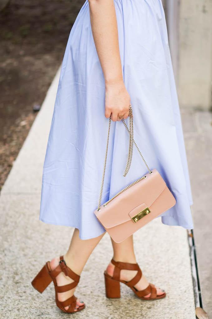 Furla Metropolis shoulder bag, how to wear multiple pastels, colorful outfits for spring