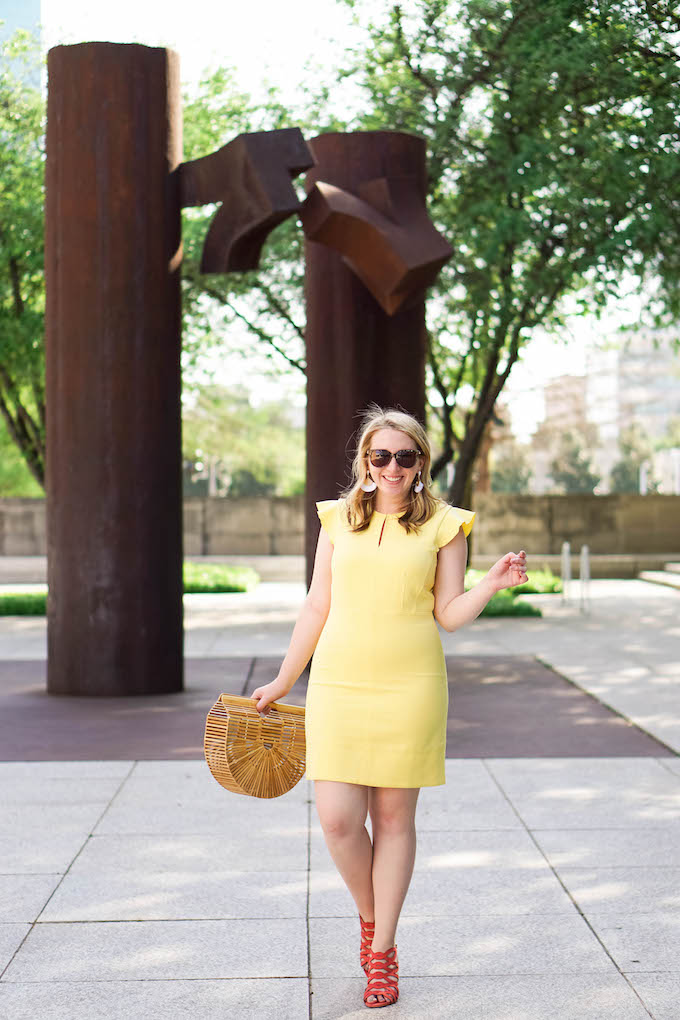 How to Find a Blog Photographer for Fashion Bloggers in Dallas, Yellow Work Dress for Summer