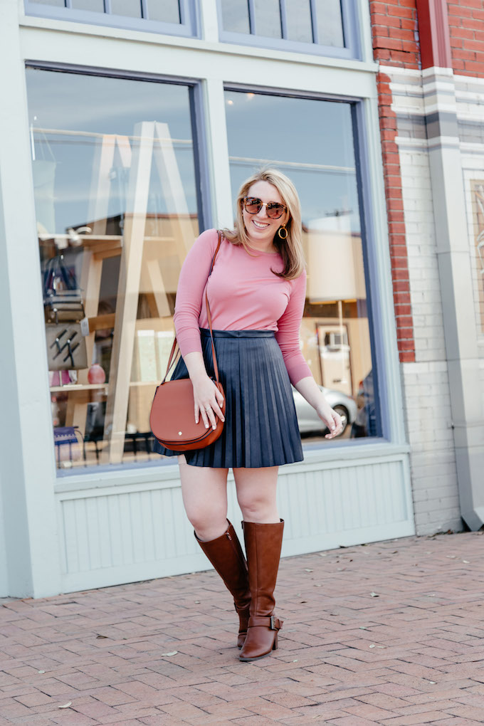 How to Stay Disciplined When Working From Home, how to style riding boots for spring, how to style leather skirts for spring, best colors for fair skin