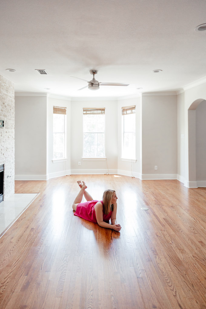 How to shoot backlit photos, best way to showcase empty room, how to announce moving on blog