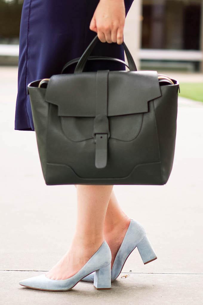 Bloggers Favorite Camera via Dallas Fashion & Travel Blog, Glitter & Spice | Senreve Maestra Work Bag | Laptop Bag | Comfy Heels to Wear to Work | Comfy Pumps
