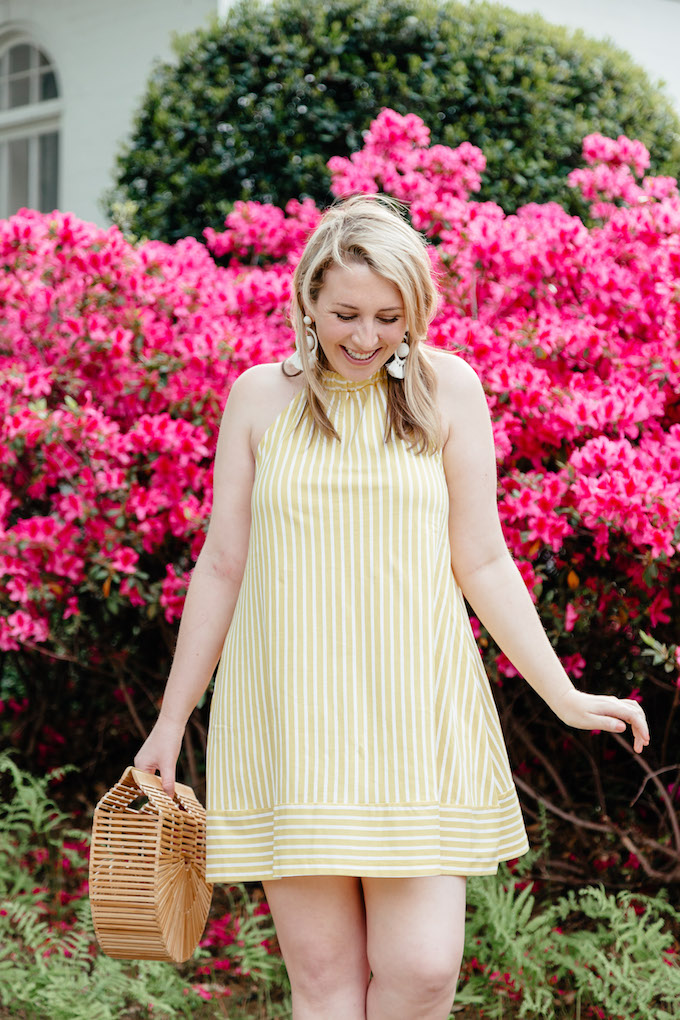 How to Use Pinterest for Blogging | Best Pinterest Tools | Pinterest Business Tools | Pinterest Scheduler | Yellow Striped Dress | ASOS Halter Dress