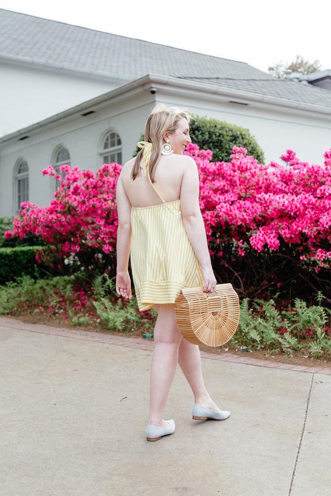Pinterest Growth Strategy for Bloggers | Pinterest Growth Story | Pinterest Strategy 2018 | Yellow Halter Dress | How to Style Stripes with Stripes