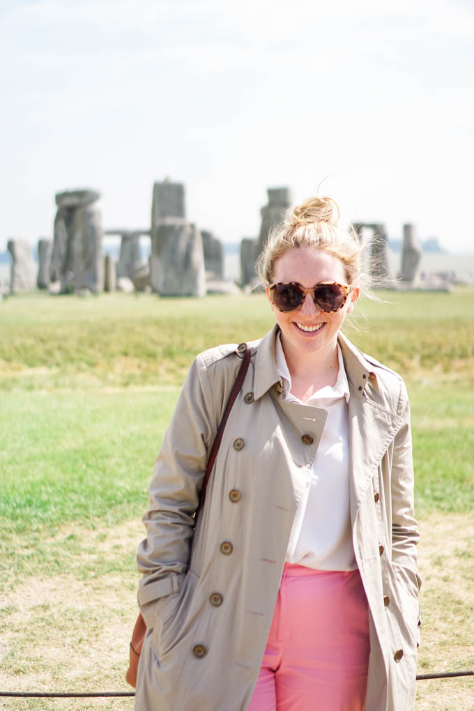 Best Times of the Year to Visit Stonehenge | What to Wear to Visit Stonehenge | How to Casually Style a Burberry Trench via Dallas style blog, Glitter & Spice