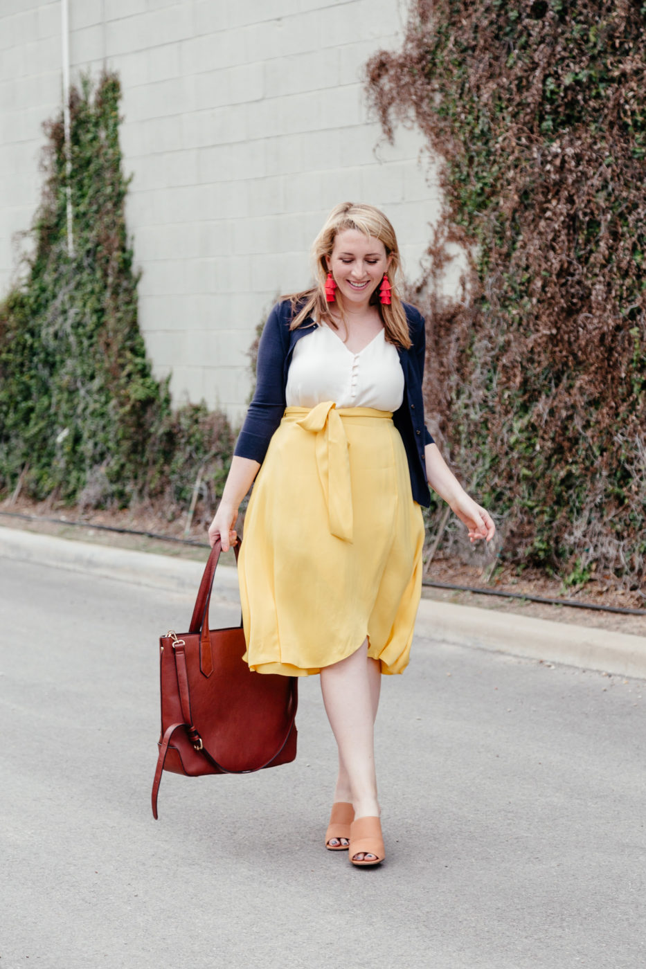 Casual Summer Office Outfits | How to Wear Yellow to Work | How to Bring Color into Your Work Wardrobe via feminine fashion blogger Glitter & Spice