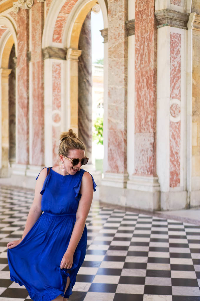 What to Wear to Visit Versailles in the Summer via Dallas fashion and travel blogger, Glitter & Spice
