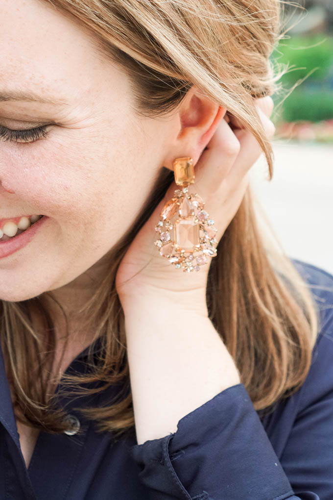 Nordstrom Anniversary Sale Statement Earrings | J.Crew Statement Earrings | Cluster Drop Stone Earrings