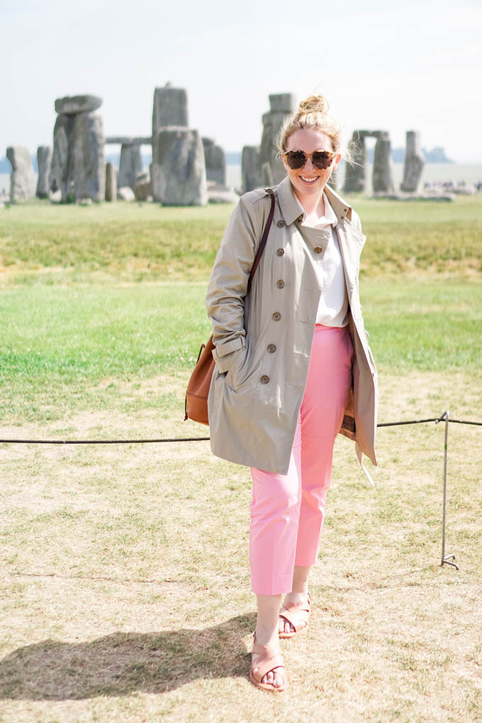 What to Wear to Visit Stonehenge | How to Wear Pink Pants via Dallas Fashion Blog, Glitter & Spice