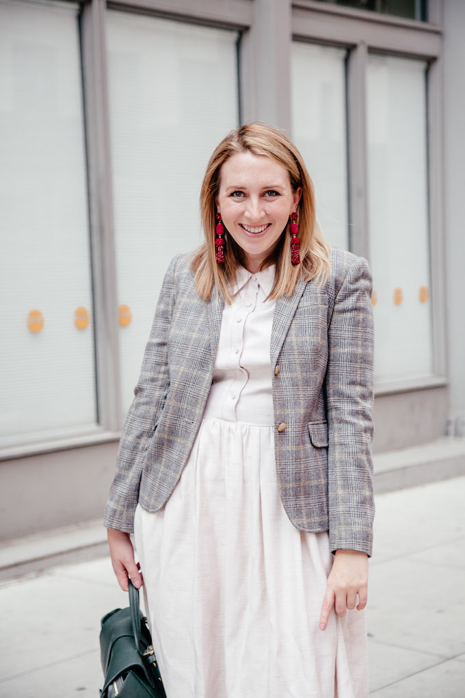 How to Style a Plaid Blazer | How to Wear Statement Earrings to Work | How to Wear Plaid this Fall