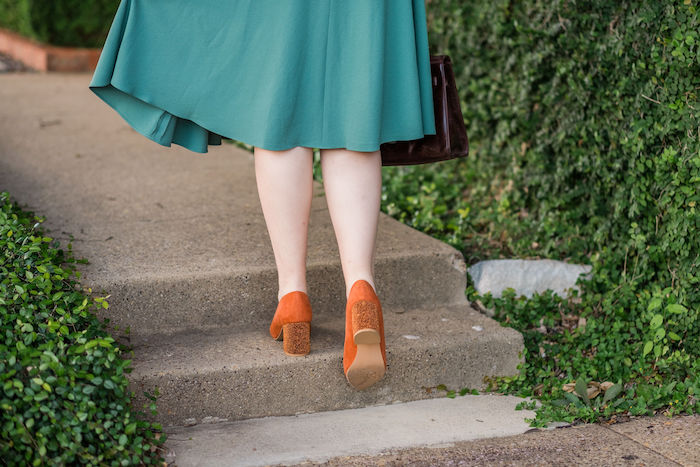 Seychelles Rehearse 2 Heels | Orange Block Heels | How to Add a Pop of Color to Your Outfit