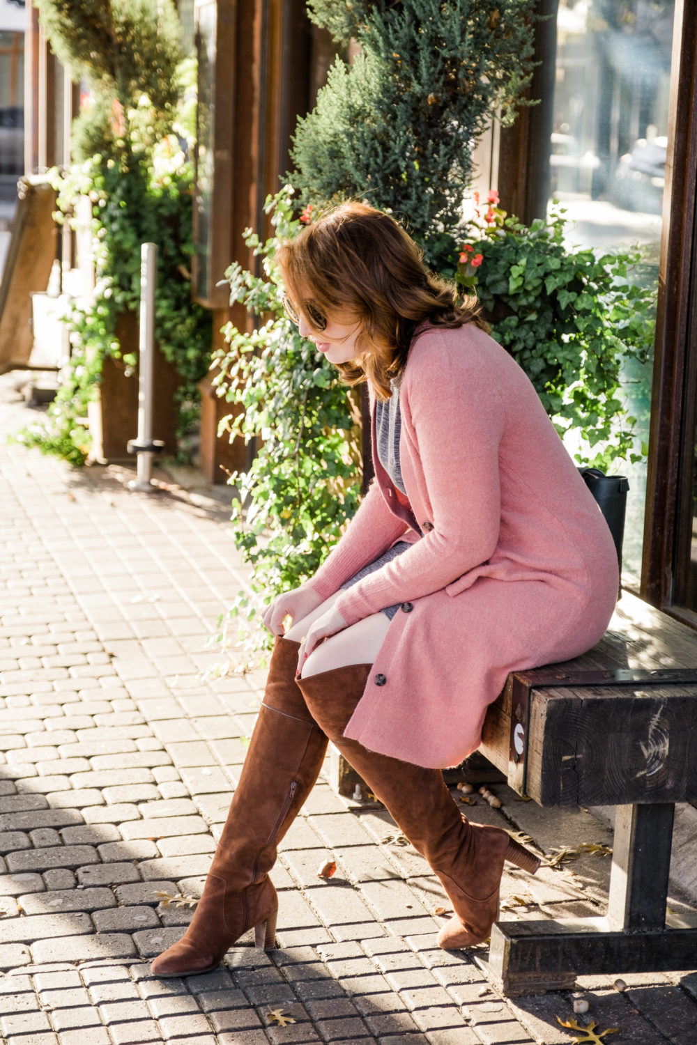 Comfy Over the Knee Boots | Best Suede Boots for Fall | Winter Outfit Idea