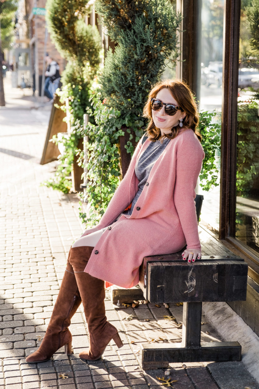 Cozy Coatigan | How to Style a Long Sweater | Pink Sweater Coat | Pink Cardigan via fashion blogger Glitter & Spice