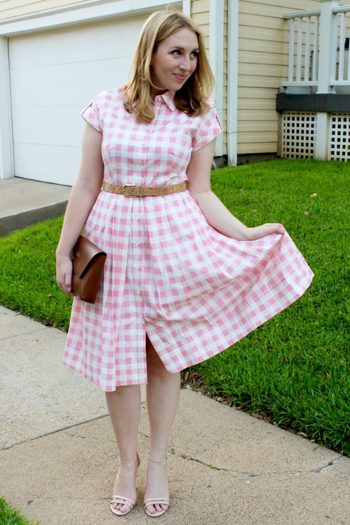 7383eb4702f Pink Gingham Dress